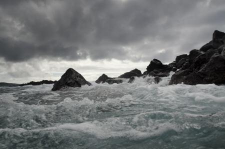 Waves breaking on the coast, Playa Ochoa, San Cristobal Island, Galapagos Islands, Ecuador Stock Photo - 17716547