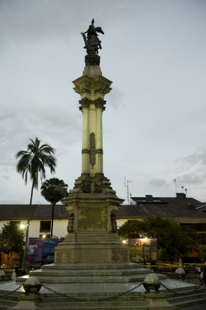 Monument, Plaza de Independencia, Historic Center, Quito, Ecuador