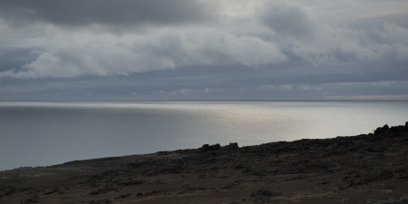 bartolome: Clouds over the Pacific Ocean, Bartolome Island, Galapagos Islands, Ecuador