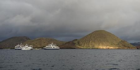 bartolome: Boats in the Pacific Ocean, Bartolome Island, Galapagos Islands, Ecuador
