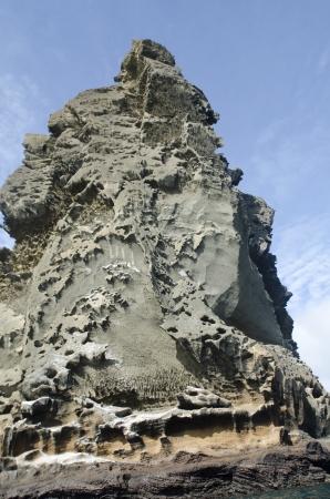 pin�culo: �ngulo de visi�n baja de una roca pin�culo, Bartolome Island, Galapagos Islands, Ecuador