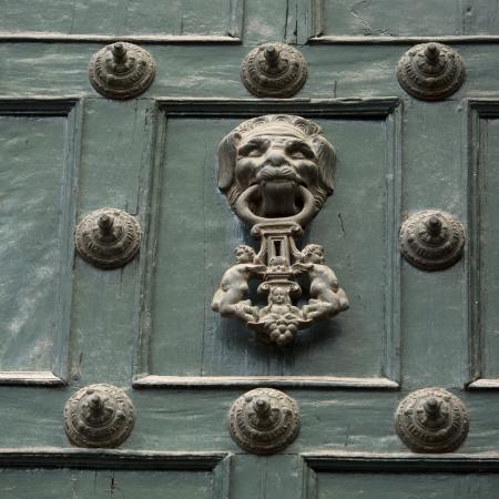 rivets: Door knob and rivets on a door, Cuzco, Peru