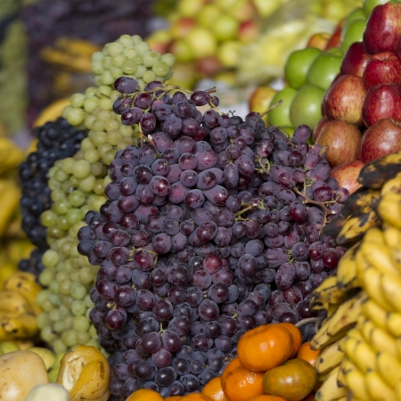Grapes at a market stall, Mercado Central, Cuzco, Peru Stock Photo - 16806077
