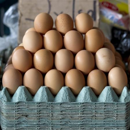 Eggs at a market stall, Mercado Central, Cuzco, Peru Stock Photo - 16806194