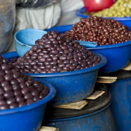 Acai berries for sale at a market stall, Mercado Central, Cuzco, Peru