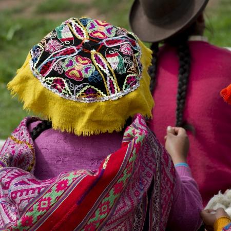 Girls in a school, Chumpepoke Primary School, Sacred Valley, Cusco Region, Peru Stock Photo - 16808463
