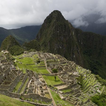 the lost city of the incas: Ruins of The Lost City of The Incas, Machu Picchu, Cusco Region, Peru Stock Photo