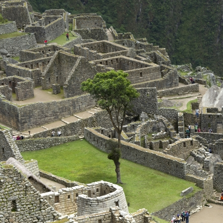 cusco: Ruins of The Lost City of The Incas, Machu Picchu, Cusco Region, Peru Stock Photo