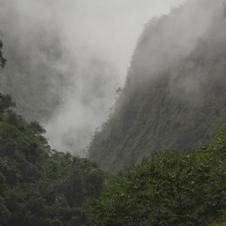 sacred valley of the incas: Fog in Sacred Valley, Cusco Region, Peru