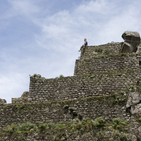 the lost city of the incas: Ruins of The Lost City of The Incas, Mt Huayna Picchu, Machu Picchu, Cusco Region, Peru