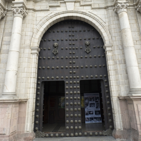 Facade of Cathedral Of Lima, Plaza Mayor, Historic Centre of Lima, Lima, Peru Stock Photo - 16808237