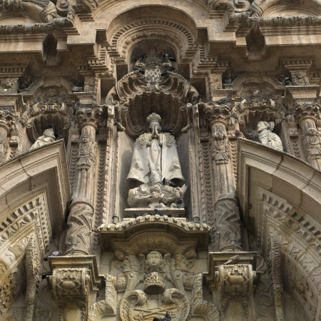 Carving on a Monastery Of San Francisco, Historic Centre of Lima, Lima, Peru 写真素材