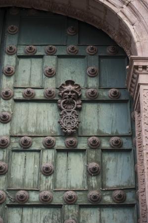 qusqu: Door of Cathedral Of Santo Domingo, Plaza de Armas, Cuzco, Peru