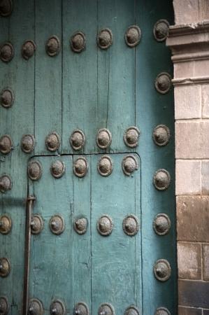 republic of peru: Door of Cathedral Of Santo Domingo, Plaza de Armas, Cuzco, Peru