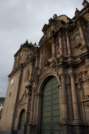 house of prayer: Low angle view of Cathedral Of Santo Domingo, Plaza de Armas, Cuzco, Peru