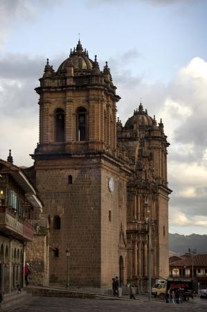plaza de armas: Cathedral Of Santo Domingo in a city, Plaza de Armas, Cuzco, Peru