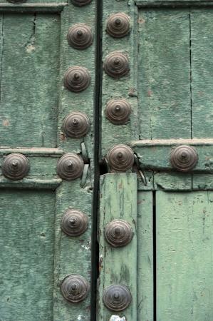 Detail of a closed door, Plaza De Las Nazarenas, Cuzco, Peru