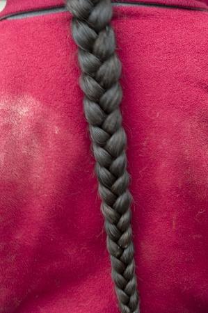 Braided hair of a person, Cuzco, Peru