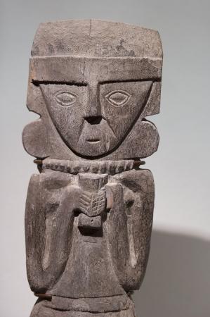 likeness: Pre-Columbian Wooden statue in Museo de Arte Precolombino, Cuzco, Peru