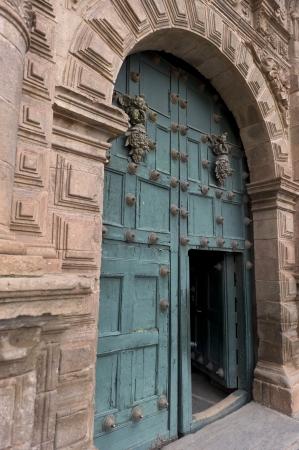 la compania: Doorway of Templo De La Compania De Jesus, Cuzco, Peru