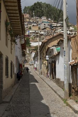 cusco province: Houses along alley in Barrio De San Blas, Cuzco, Peru