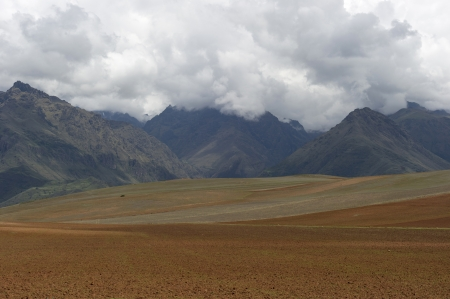 Agricultural field in Sacred Valley, Cusco Region, Peru Stock Photo - 16808388