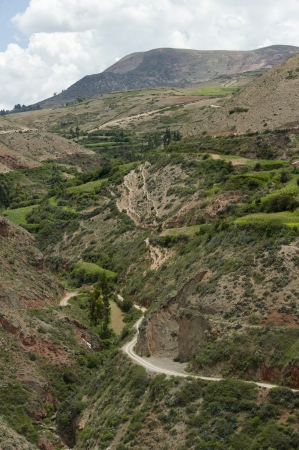 placidness: High angle view of Sacred Valley, Cusco Region, Peru Stock Photo