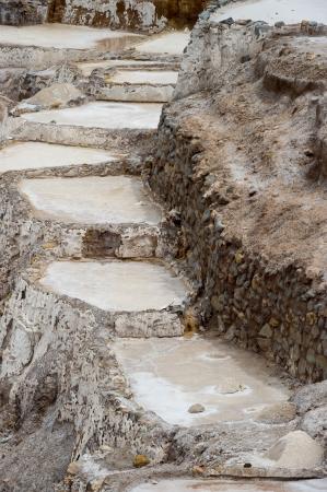 sacred valley of the incas: Salt pond, Maras, Sacred Valley, Cusco Region, Peru Stock Photo