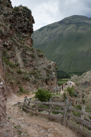 placidness: Dirt road passing by a mountain, Sacred Valley, Cusco Region, Peru