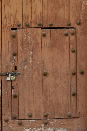 sacred valley of the incas: Closed door of a church, Maras, Sacred Valley, Cusco Region, Peru Stock Photo