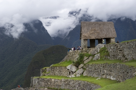 the lost city of the incas: Tourists at The Lost City of The Incas, Machu Picchu, Cusco Region, Peru Editorial