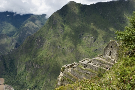 the lost city of the incas: The Lost City of The Incas, Mt Huayna Picchu, Machu Picchu, Cusco Region, Peru