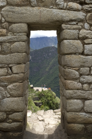 The Lost City of The Incas, Mt Huayna Picchu, Machu Picchu, Cusco Region, Peru photo