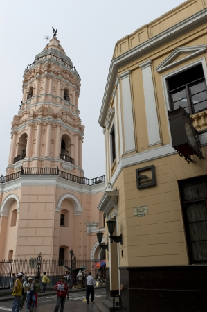 lima: Low angle view of Santo Domingo Church, Historic Centre of Lima, Lima, Peru