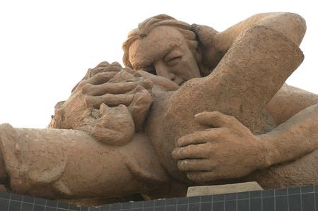 lima province: Low angle view of a statue, El Parque Del Amor, Av De La Aviacion, Miraflores District, Lima Province, Peru
