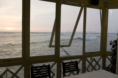 lima province: Restaurant at an ocean, La Rosa Nautica, Miraflores District, Lima Province, Peru