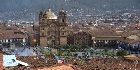 plaza de armas: Church De La Compania De Jesus, Plaza de Armas, Cuzco, Peru Stock Photo