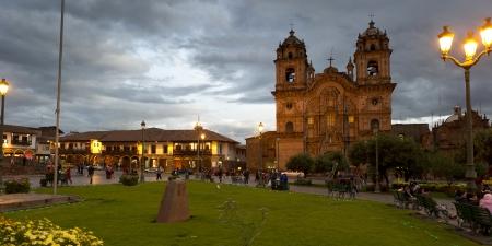 la compania: Church De La Compania De Jesus, Plaza de Armas, Cuzco, Peru Editorial