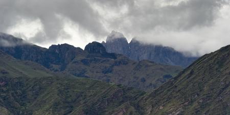 Clouds over a mountain range, Sacred Valley, Cusco Region, Peru Banco de Imagens