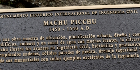 the lost city of the incas: Information board at The Lost City of The Incas, Machu Picchu, Cusco Region, Peru