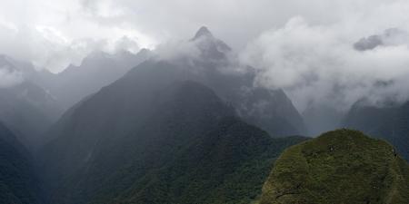 placidness: Clouds over mountains, Machu Picchu, Cusco Region, Peru