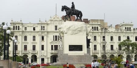 jose de san martin: Monument of Jose de San Martin, Plaza San Martin, Historic Centre of Lima, Lima, Peru