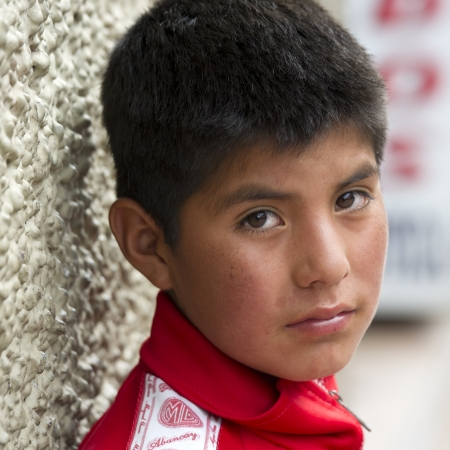 Portrait of a boy, Cuzco, Peru