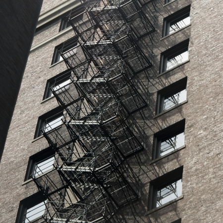 Fire escape on a building, Chicago, Cook County, Illinois, USA