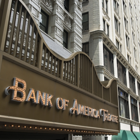 bank of america: Low angle view of Bank of America Theater, Chicago, Cook County, Illinois, USA Editorial