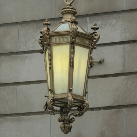 michigan avenue: Close-up of a lantern, Michigan Avenue, Chicago, Cook County, Illinois, USA