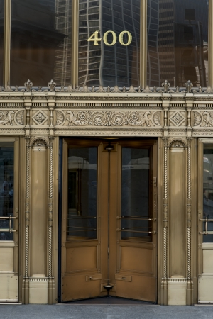 Doorway Entrance and Facade of a building, Chicago, Cook County, Illinois, USA
