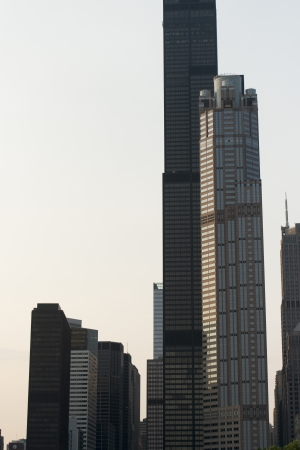 the sears tower: Low angle view of skyscrapers, Sears Tower, Chicago, Cook County, Illinois, USA