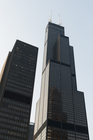 Low angle view of skyscrapers, Sears Tower, Chicago, Cook County, Illinois, USA