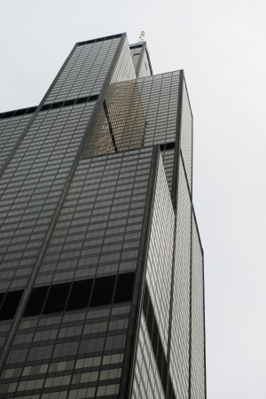 the sears tower: Low angle view of Sears Tower, Chicago, Cook County, Illinois, USA
